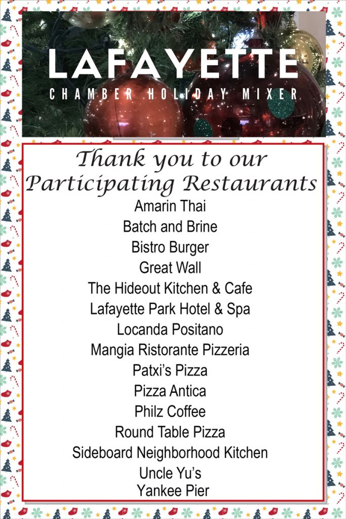 Thank you to our Participating Restaurants