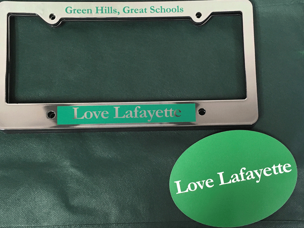 City of Lafayette Merchandise - License Plate and Car Magnet