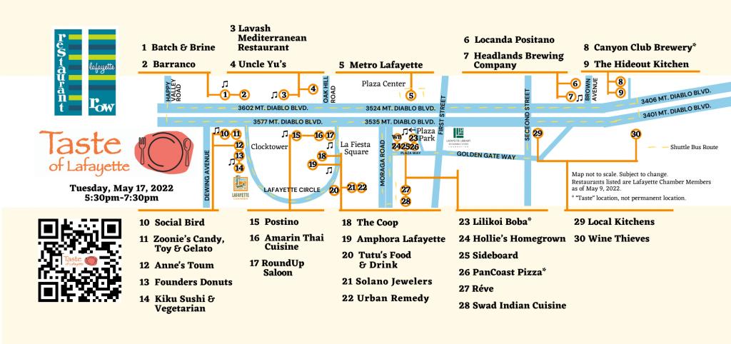 Taste of Lafayette 2021 Map