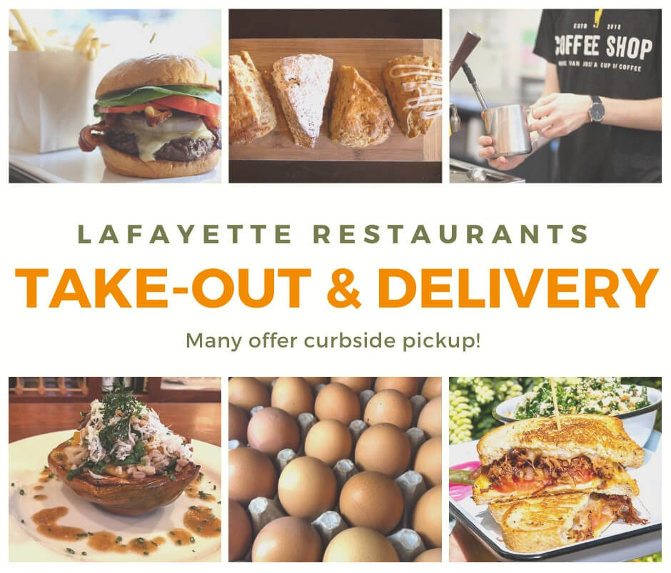 Lafayette Restaurants take-out and delivery options