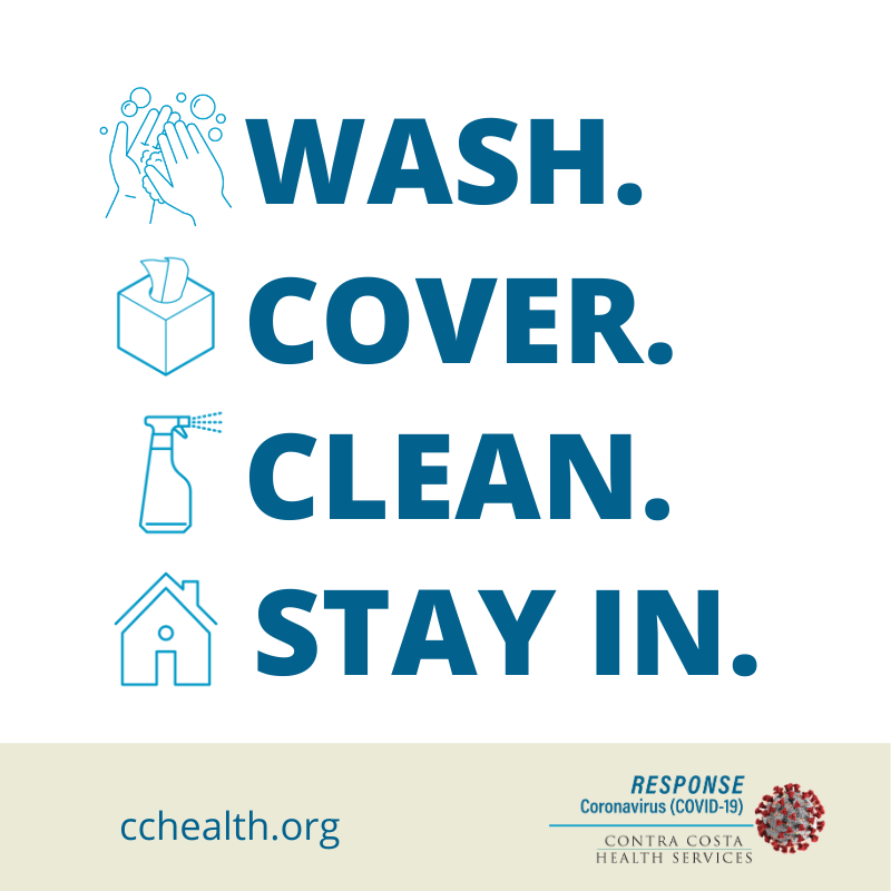 Wash. Cover. Clean. Stay In.